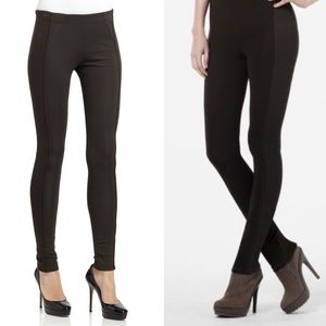 BCBGMaxAzria Macaulay Black Ribbed Leggings